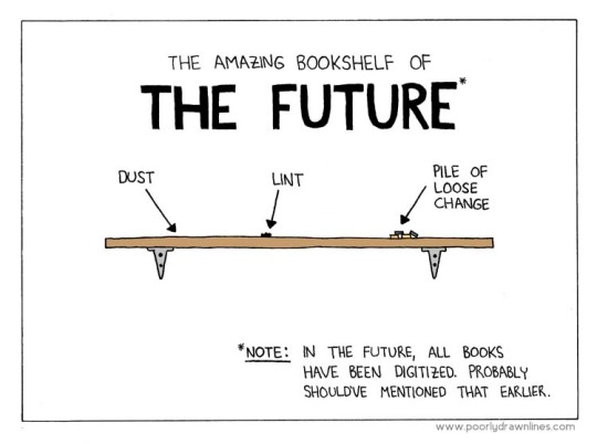 Amazing bookshelf of the future - #cartoon