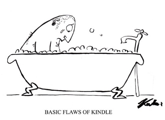 Basic flaws of the Kindle - #cartoon
