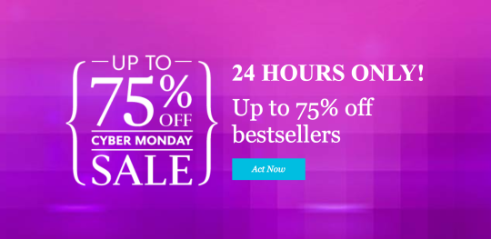 Cyber Monday 2014 on Kobo - 75 percent of bestsellers