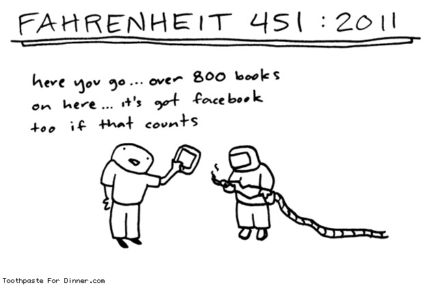 Fahrenheit 451, digital edition - #cartoon