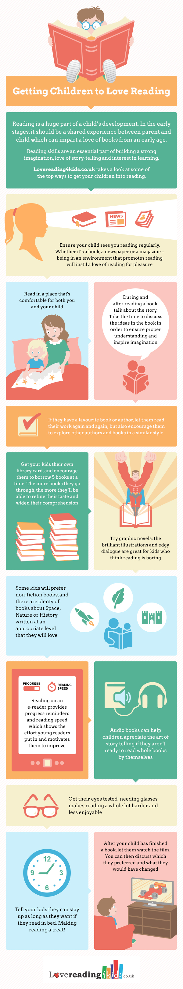 How to encourage children to #read - #infographic