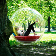 Imagine reading outside in a Cocoon - there is no fear of the rain