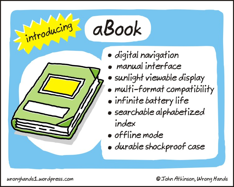 Introducing a-book - cartoon