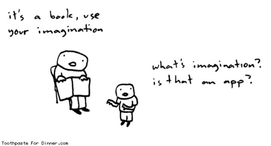 It's a book, use your imagination - #cartoon