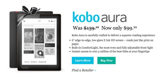 Kobo Aura Black Friday 2014 Sale