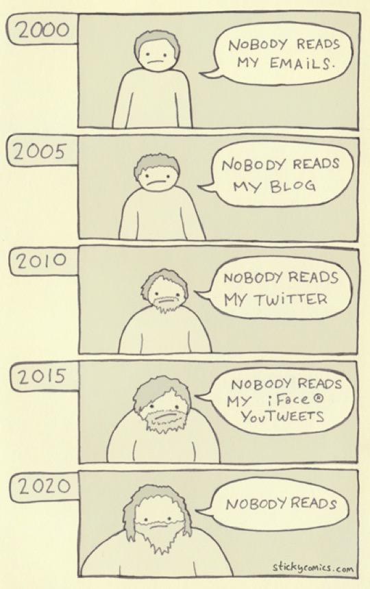 Nobody reads - cartoon