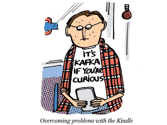 Overcoming problems with the #Kindle - #cartoon