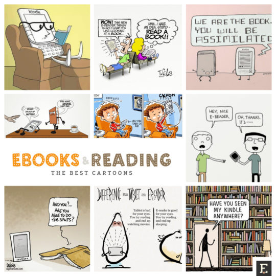 The best cartoons about books, ebooks, and digital reading