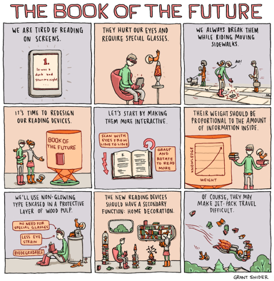 The book of the future - cartoon