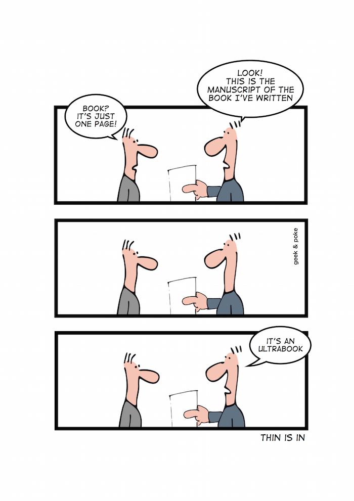 Ultrabook - cartoon