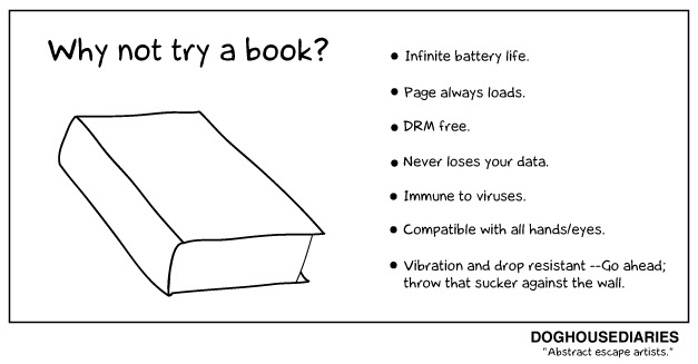 Why not try a book - #cartoon