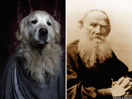 Dogs and famous writers - Leo Tolstoy