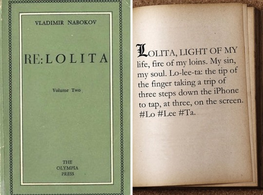 Famous first lines rewritten for today - Lolita