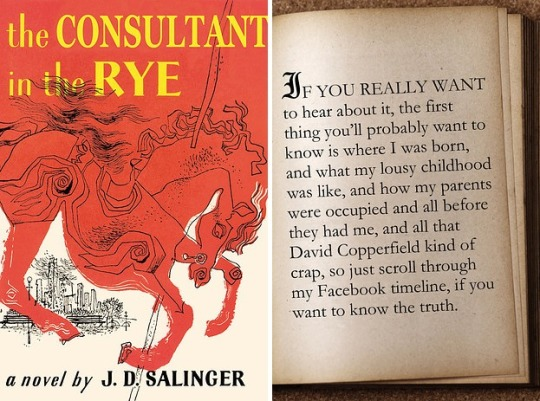 Famous first lines rewritten for today - The Catcher in the Rye