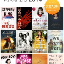 Goodreads Choice Awards 2014 - best books of the year decided by readers #infographic