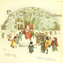 Vintage Christmas cards and illustrations - The Coming of Father Christmas by Eliza Manning