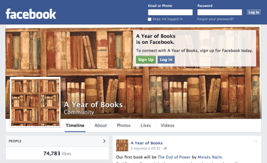 Facebook - A Year of Books