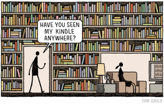 Have you seen my Kindle anywhere - cartoon by Tom Gauld