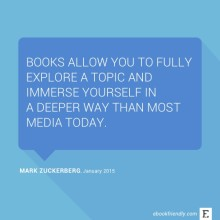 Mark Zuckerberg about books - quote
