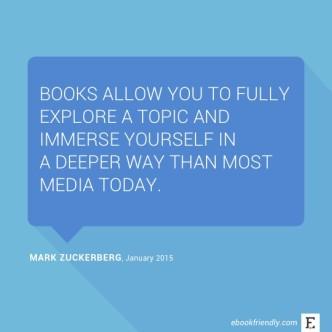 Mark Zuckerberg about books - quote