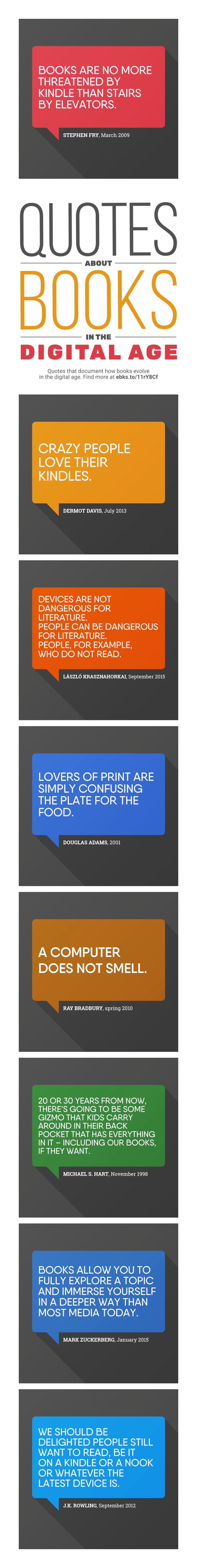 Most interesting quotes about how books evolve in the digital era #infographic