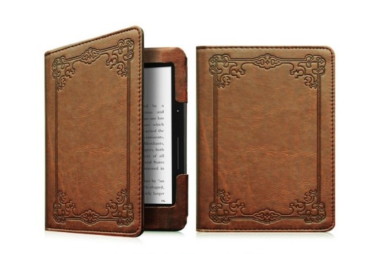 "Fintie ""Vintage Book"" Kindle Voyage Slim Fit Folio Cover"