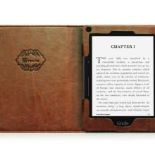 "Fintie ""Vintage Book"" Kindle Voyage Slim Fit Folio Cover - inside"