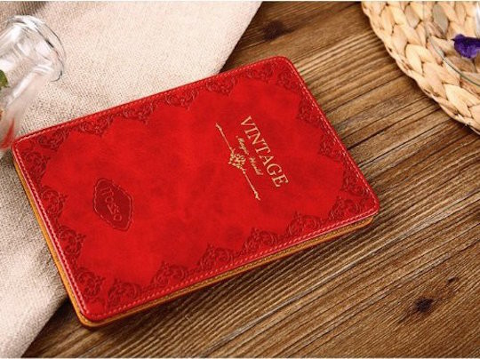 Mosiso Slim Fit Retro Kindle Voyage Case - Red