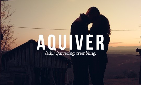 Most beautiful English words - Aquiver