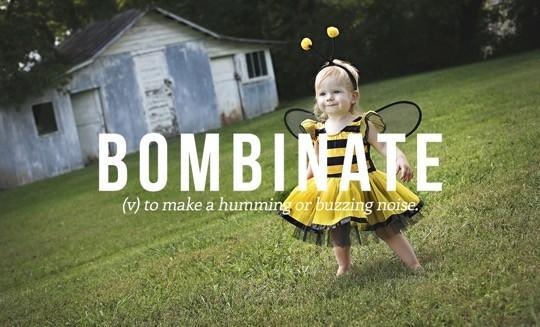 Most beautiful English words - Bombinate