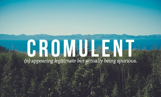 Most beautiful English words - Cromulent