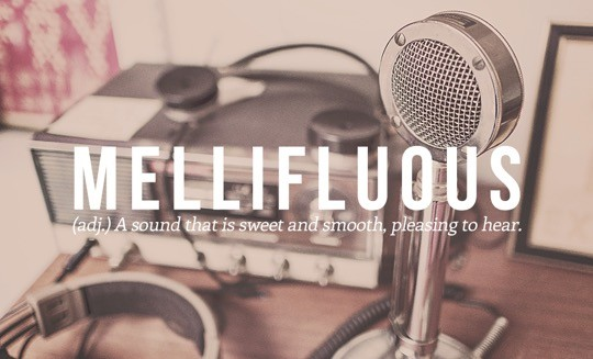 Most beautiful English words - Mellifluous