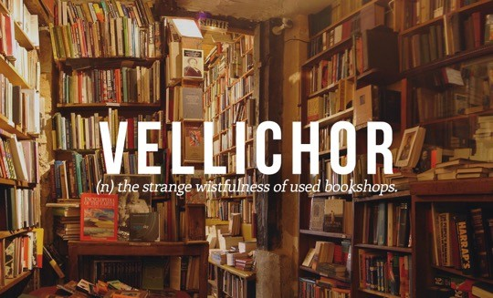 Most beautiful English words - Vellichor