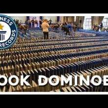 New Guinness World Record - book domino
