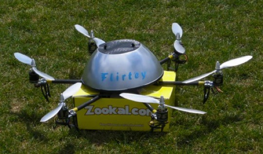 Book delivery drone Zookal Flirtey