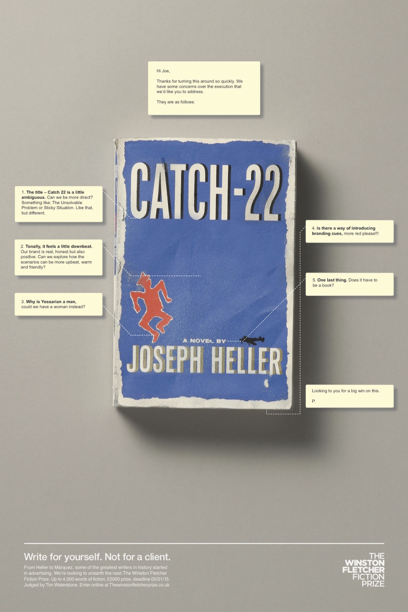 Client feedback on famous novels - Catch-22