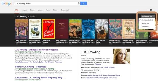 Google search - J.K. Rowling books