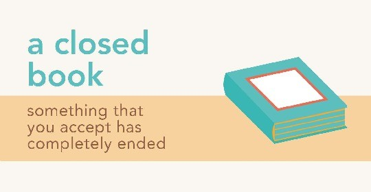 Idioms about books - a closed book