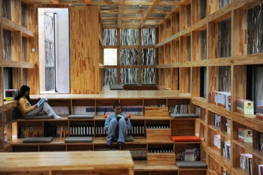 LiYuan #Library is a nature-inspired library built on the outskirts of Beijing, China