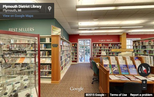 Plymouth Biblioteca Distrital no Google Street View