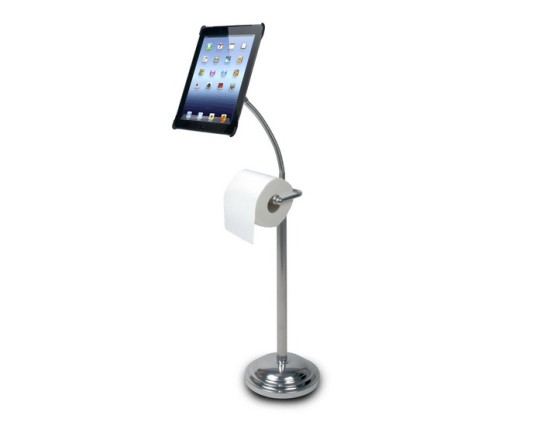 Reading stand with roll holder