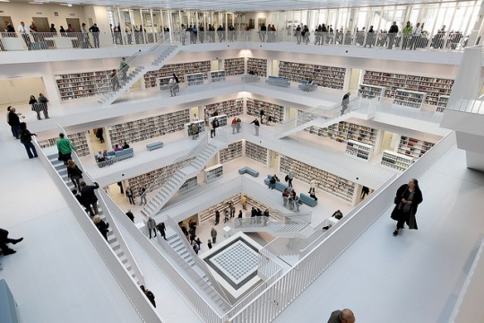 Stuttgart City #Library - the heart and core of the library follows the design of the ancient pantheon