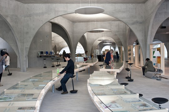 Inside Tama Art University #Library, Japan