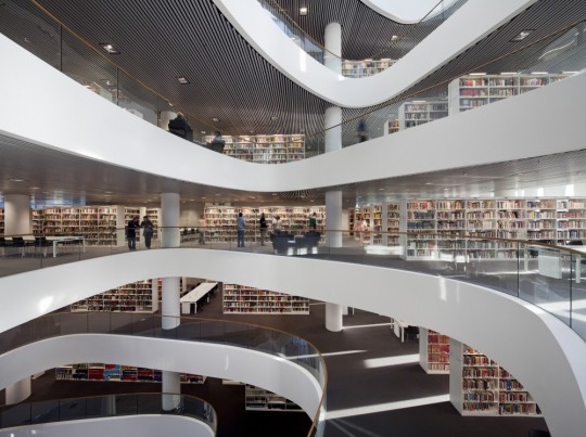 University of Aberdeen New Library - inside