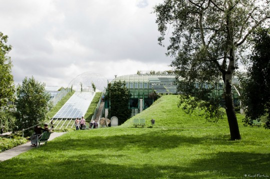 Botanical garden on the roof of Warsaw University #Library