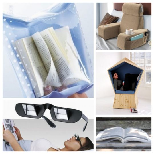 Weird things designed to make reading more comfortable
