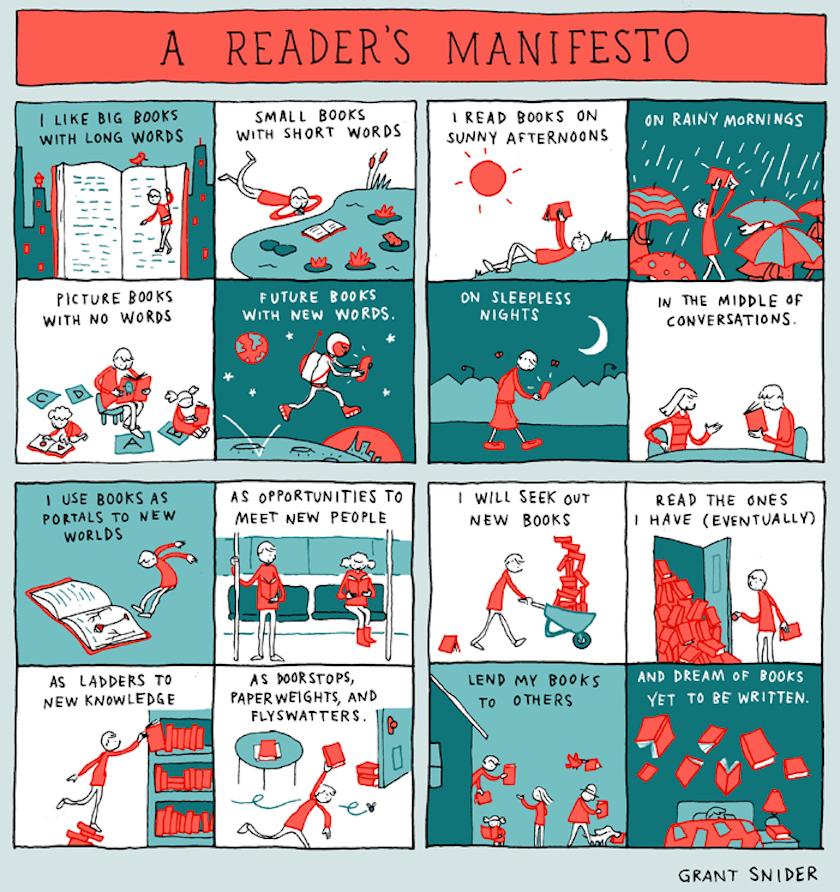 A readers manifesto - cartoon