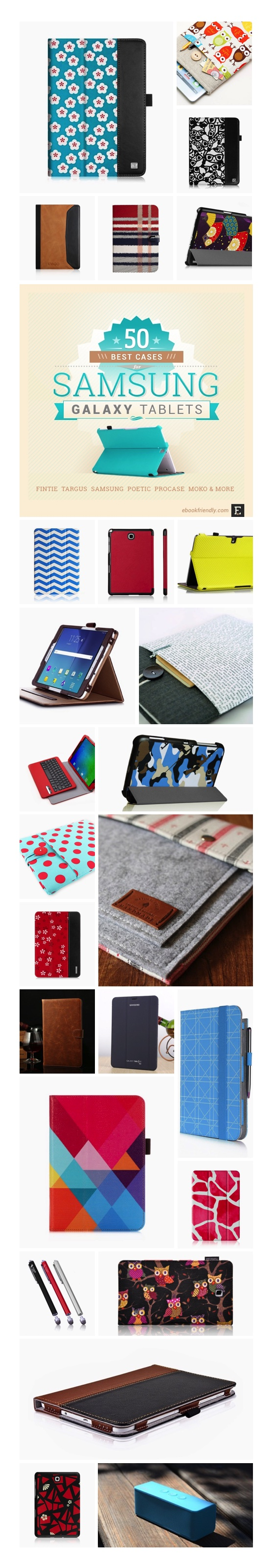 Best Samsung Galaxy Tab cases accessories - infographic