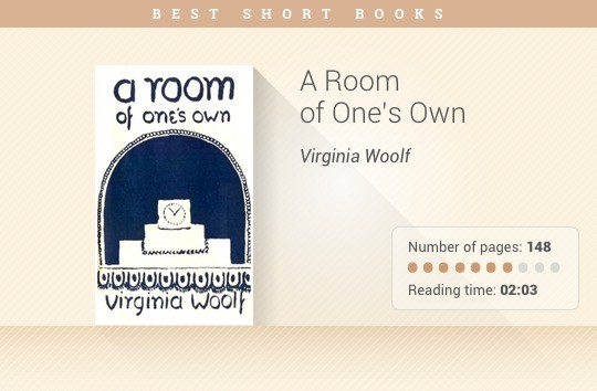 Best short books - A Room of Ones Own - Virginia Woolf