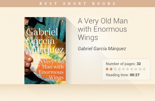 Best short books - A Very Old Man with Enormous Wings - Gabriel Garcia Marquez